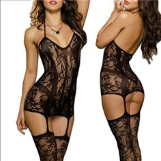 Trinidad Fishnet Garter Dress  $34.95 or have almost all the single items for 50% OFF + Free Shipping + DVDS and Attractive GIFT when you use the code PINIT @ checkout at www.AdamAndEve.com