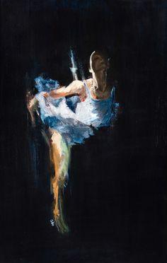 "Saatchi Arte Artista: Carlos Sánchez; Técnica Mixta Pintura 2011 ""Cisne"""