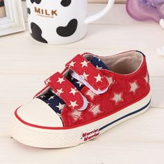 29.56$  Know more - http://aife5.worlditems.win/all/product.php?id=32329020945 - 2015 Children Canvas Shoes Stars Quality Children Shoes Boys Girls Pupils Student Canvas Sneakers Shoes KY86022