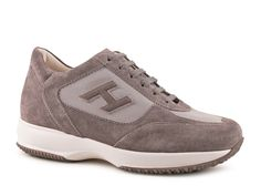Hogan Interactive sneakers shoes in grey suede leather - Italian Boutique €179