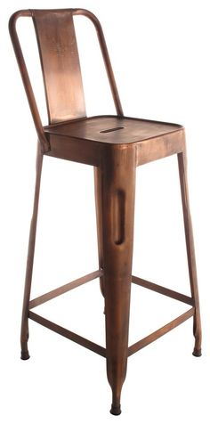 Ironworks Barstool with Back - bar stools and counter stools - Beth Woodson and Kristy Harvey