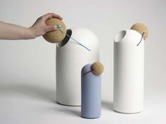 Jolly Jokester Jars - Tomas Kral   #cork #containers #kitchenaccessories