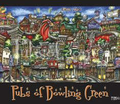 Looking for a place to hangout and grab some food and drinks in Bowling Green, Ohio? Check out this neat poster of some of the best food joints in town!
