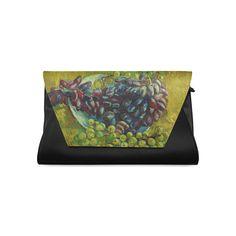Vincent van Gogh Grapes Fine Art Painting Clutch Bag (Model 1630)
