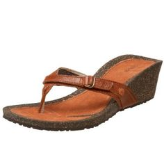 247a7a7de171d5 Teva Women s Ventura Thong Wedge Leather Sandal - Very Colorado