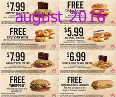 Burger King Coupons Promo Coupons will expired on MAY 2020 ! About Burger King Have a Burger King coupon at mealtime. Free Printable Coupons, Free Coupons, Free Printables, 99 Chicken, Chicken Nugget Recipes, Restaurant Deals, Grocery Coupons, Food Places, Chicken Sandwich