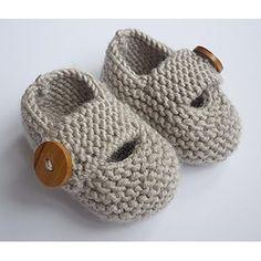 Keelan - Chunky Strap Baby Shoes Knitting pattern by Julie Taylor | Knitting Patterns | LoveKnitting
