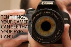 Ten different photography techniques you can use to capture photos that you wouldn't be able to see with the naked eye. Written by Discover Digital Photography December 21st, 2014. http://www.discoverdigitalphotography.com/2014/ten-things-your-camera-can-see-that-your-eyes-cant/