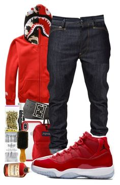 """""""Untitled #100"""" by crenshaw-m4fia ❤ liked on Polyvore featuring WithChic, Chapstick, Fendi, Speck, JanSport, men's fashion and menswear"""