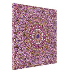 Decorate your walls with Colorful canvas prints from Zazzle! Choose from thousands of great wrapped canvas to beautify your home or office. Mandala Canvas, Mandala Print, Flower Mandala, Home Decor Accessories, Decorative Accessories, Spiritual Garden, Doodle, Cosy Bedroom, Minimalist Decor