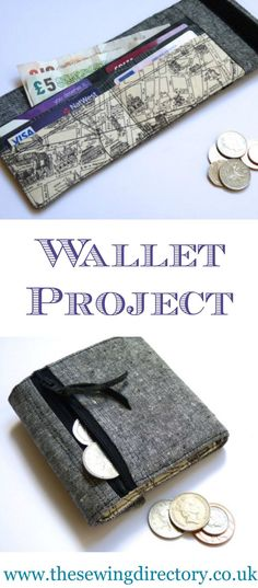 Man's wallet sewing project using fat quarters of fabric. #ad