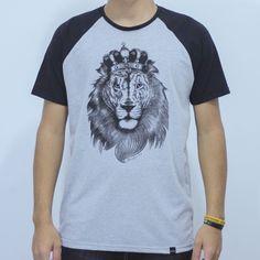 T-Shirt Raglan Leão de Judá - Talmidim Clothing                                                                                                                                                     Mais