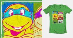 Ninja Pop Turtles on Threadless Famous Pop Art, Roundhouse Kick, Tmnt, Perfect Match, Turtles, Ninja, Doodles, Illustration, T Shirt