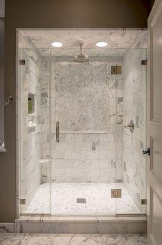 Fresh bathroom shower remodel ideas (23)