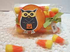 Clear Halloween Favor Box made with the Pillow Box Die and a transparency sheet