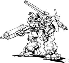 SHD - 2H Shadowhawk from the Japanese version of Battletech. Images created by Studio Nue (of Macross fame)