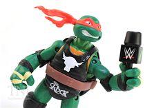 TMNT WWE Raphael as The Rock Ninja Superstars Turtles Figure Video Review & Image Gallery