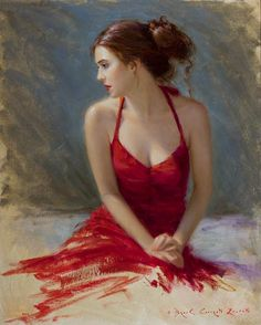Fine Art and You: Beautiful Paintings By Bryce Cameron Liston Woman Painting, Artist Painting, Figure Painting, Painting & Drawing, Painted Ladies, Red Art, Abstract Wall Art, Abstract Landscape, Portrait Art