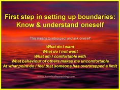 5 questions you need to introspect on while setting up personal boundaries via @karmically