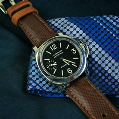 Todays attire with a BandRBands Brown Tartan Strap on the Pam111