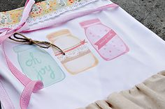 Printable Heat Transfer Mason Jar Apron | Lil Mrs Tori
