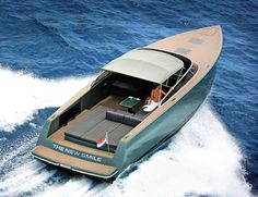 Clean lines, axe bow, open stern, head turner. VanDutch. Review at Southern Boating…