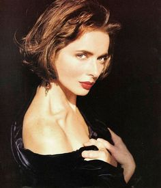 Kick up the drama of your bob by making it shorter in the back. We love Isabella Rossellini's famous style from 1991.   - Redbook.com