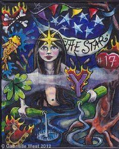 The Star, 17, Bonefire Tarot