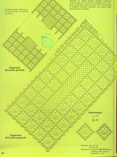 Crochet Spider Web Table Runner