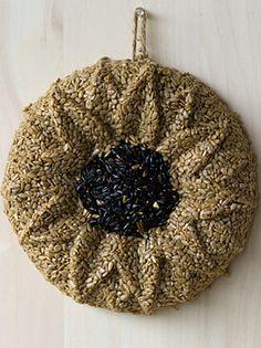 Sunflower Bird Seed Wreath
