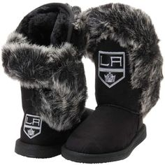Women's Los Angeles Kings Cuce Black Champions Boots