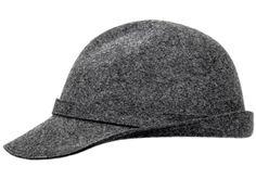 Burmenta No1 - Wollfilz, zeitloses Design mit Schild und kleiner Krempe, farblich passendes Hutband, Metallabzeichen
