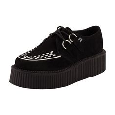 308ad6c99af48 T.U.K. Shoes Black Suede Mondo High Sole Creepers Suede Leather
