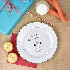 Personalised Handpainted Santa Treat Plate & Beaker Set Xmas ...