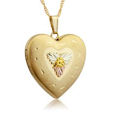 Shop for Black Hills Gold Butterfly Pendant. Get free delivery On EVERYTHING* Overstock - Your Online Jewelry Shop! Gold Heart Locket, Heart Of Gold, Gold Earrings, Gold Necklace, Pendant Necklace, Black Hills Gold Jewelry, I Love Jewelry, Jewelry Ideas, Jewelry Accessories