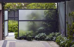 Transparent walls for a garden.