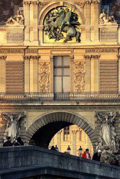https://flic.kr/p/7nzFDJ | Guichet du Louvre au soleil couchant | Pont du Carrousel (Paris)