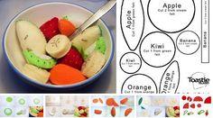 Salada de frutas em feltro com moldes - Ver e Fazer