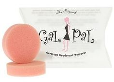 Gal Pal Deodorant Remover: Gal Pal Garment Deodorant Remover is a product that can be used to remove deodorant stains from your clothing.  Basically, it is a rubber pad which is