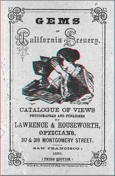 »Gems of California scenery« (anaglyph)    -   2D in 3D Umwandlung, ursprüngliche Quelle: Online Catalog der LIBRARY OF CONGRESS