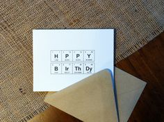 Birthday Card Periodic Table of the Elements by theBirdandtheBeard $4.00 USD