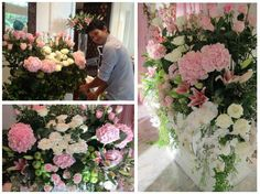 Another beautiful flowers decoration for the wedding and here's Khun Lek, the man behind the success of Four Seasons Hotel Bangkok flowers!