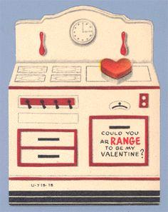 Vintage Valentine - @Kim Woitaszewski & @S. DeMaro - this reminds me of that tin toy stove mom had!