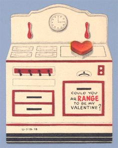 Vintage Valentine - @Kim Woitaszewski & @S. DeMaro - this reminds me of that tin toy stove mom had!