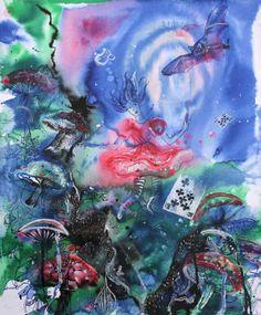 Alice in Wonderland # 3 / 2013 / acrylic and ink on paper /50 x 40 cm by Stefan Venbroek