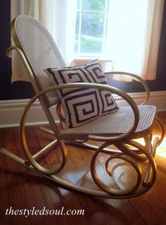 This is the bentwood rocking chair I bought for $10 :)