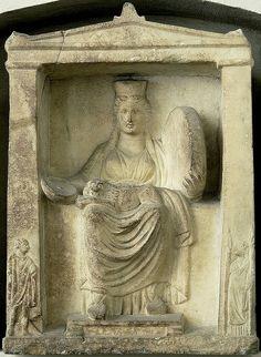 Berlin Pergamon Museum - Naiskos - Kybele sitting with panther on lap, Hermes Kadmilos & Hekate on the pillars academic-ru Divine Mother, Mother Goddess, Ancient Goddesses, Gods And Goddesses, Pergamon Museum, Tarot, Roman Gods, Sacred Feminine, Terracota