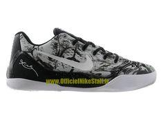 best service 424ea 9a341 Nike Kobe 9 IX Low EM iD - Chaussures Nike Baskets Pas Cher Pour Homme  Gris Noir 653972-800iD