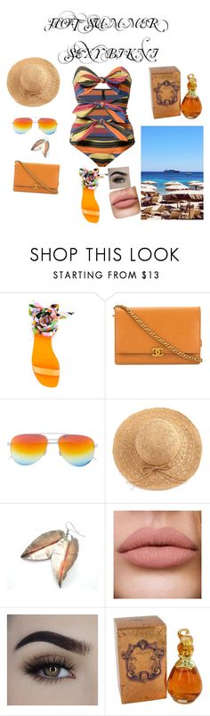 """Bikini 😜"" by elafkhan ❤ liked on Polyvore featuring Lisa Marie Fernandez, Emilio Pucci, Chanel and WithChic"