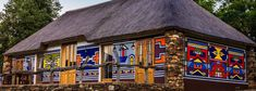 ndebele houses - Google Search Environmental Art, Houses, Cabin, Google Search, House Styles, Home Decor, Homes, Decoration Home, Room Decor